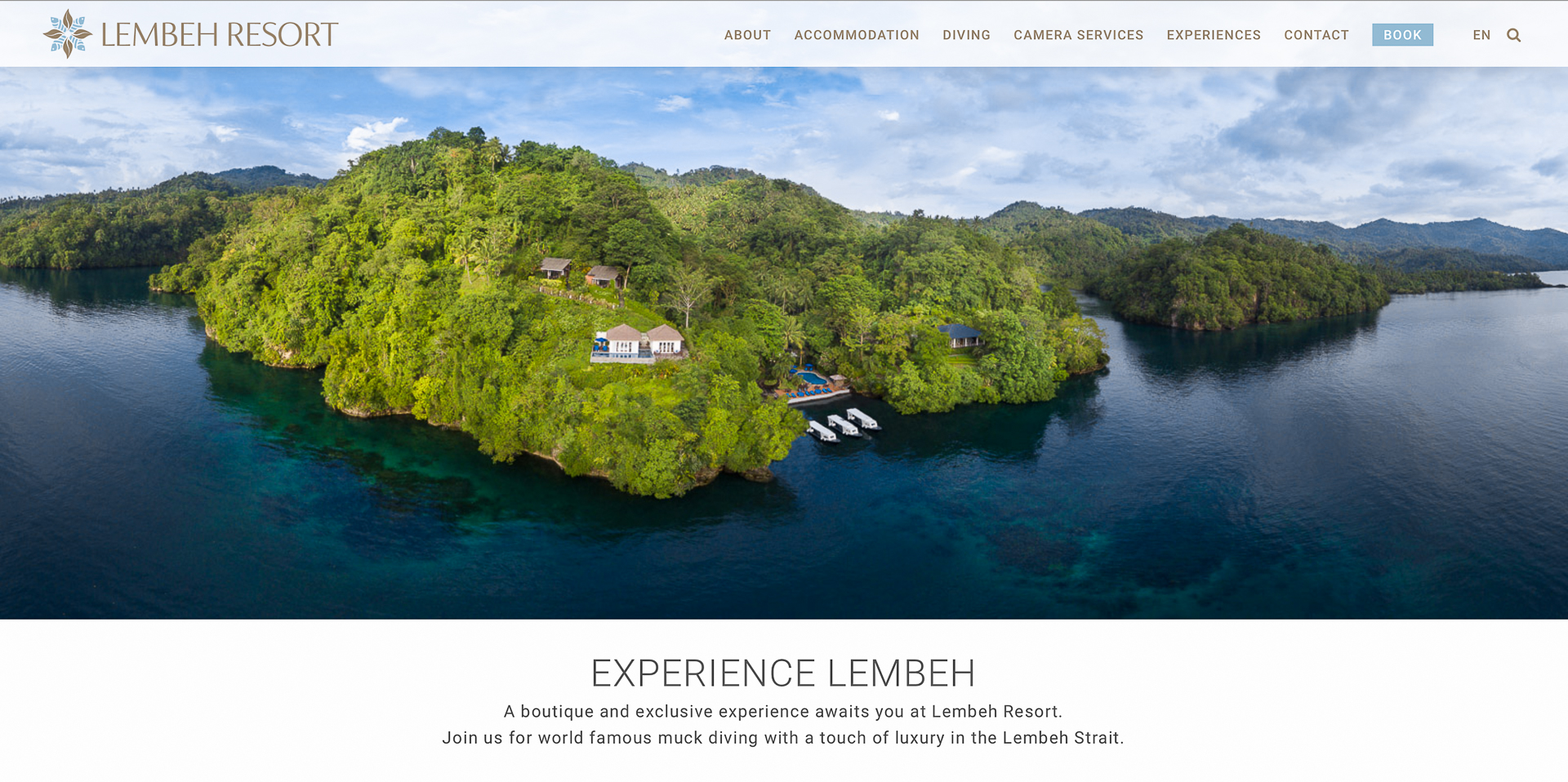 Newmediasoup-Lembeh-Resort-Home-Page